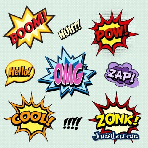 palabras comic onomatopeya - Descarga estos globos de diálogos, onomatopeyas, exclamaciones tipo comic