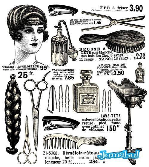 peluqueria-retro-elementos