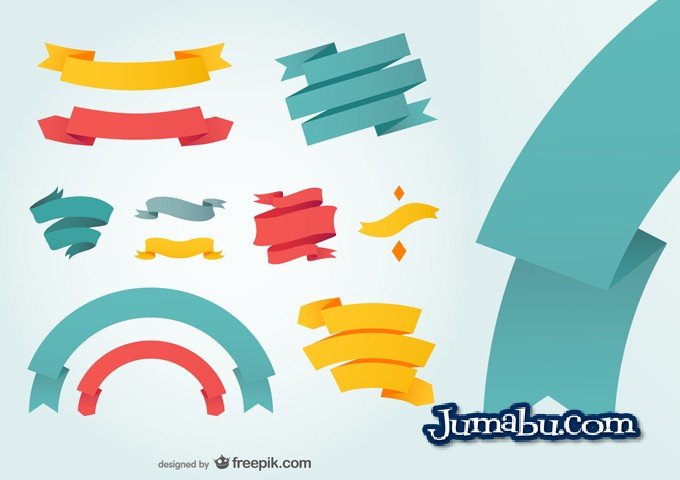 ribbons-vectores-flat-design