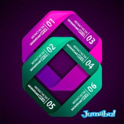 estadisticas-vectores-infografias-alfabeto-verdes-violetas
