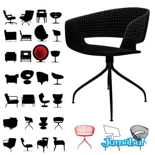 sillas-oficina-vectorizadas