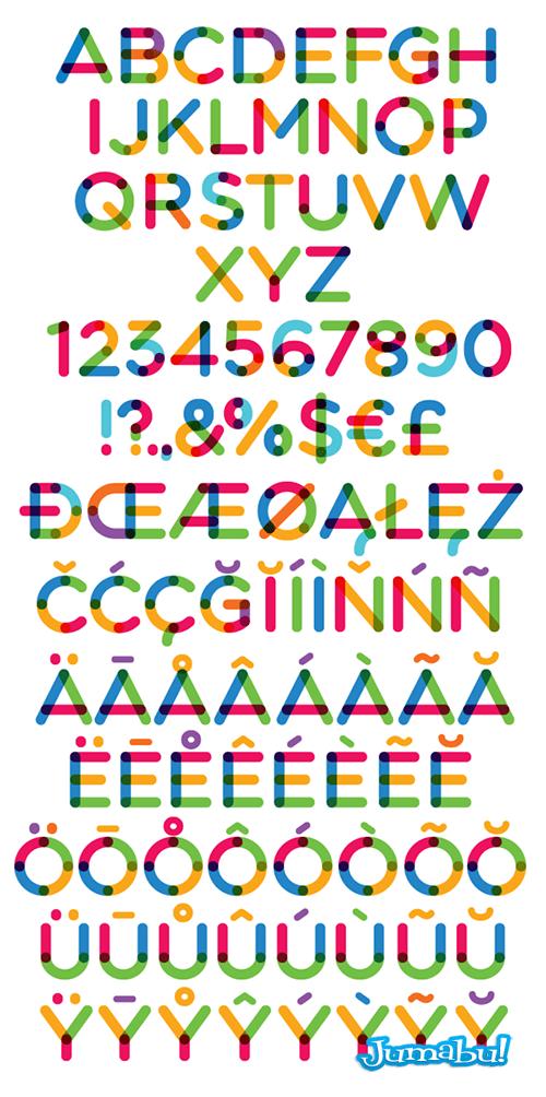 tipografias-fuentes-vectoriales-coloridas