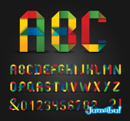 tipografias-letras-con-estilo-origami-papel-doblado