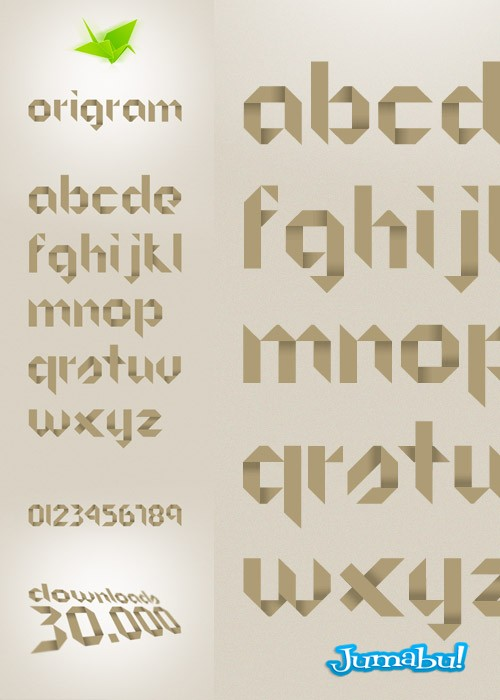 tipografias-origami