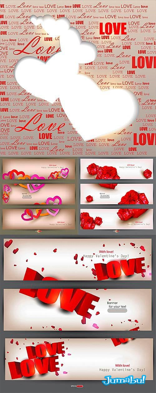 valentin day backgrounds vector - Backgrounds vectorizados