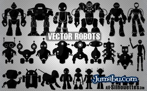 vectores-robots-vectorizados