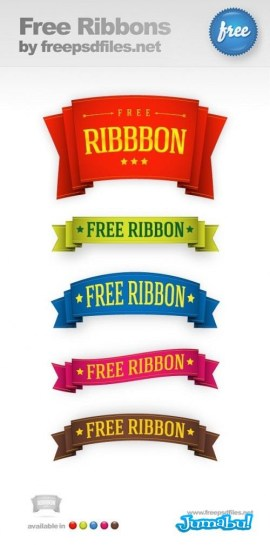 5 Free Ribbon Templates Preview Big 500x10092 - Ribbons en PSD para Editar con Photoshop