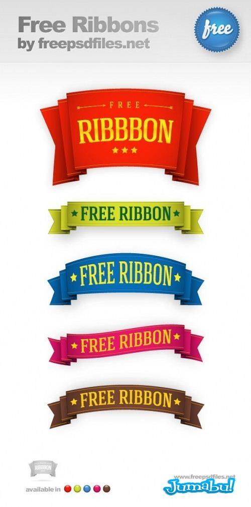 5 Free Ribbon Templates Preview Big 500x10092 - Ribbons en PSD para Editar con Photoshop