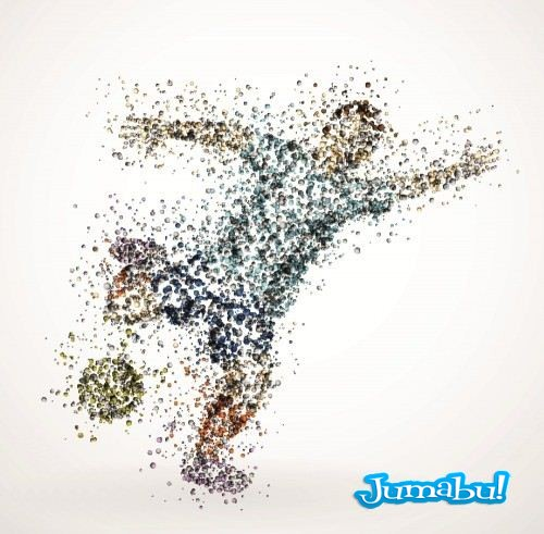 Gfxsources.com Sports Illustrations colored drops 4 500x4912 - Siluetas Deportistas Vectorizadas