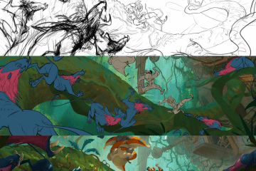 Marcin Jakubowski escena selva - Como se dibuja una escena paso a paso