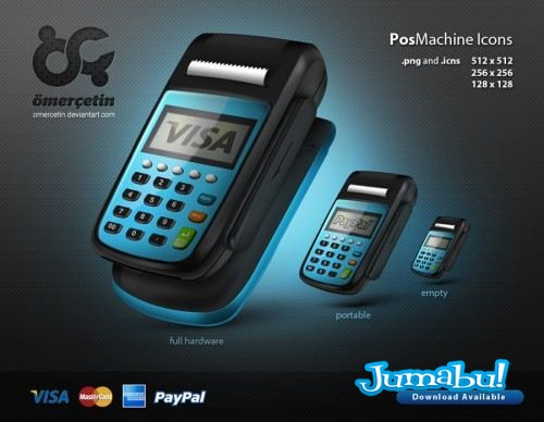 Pos Machine Icons by omercetin 500x3883 - Maquinas Pos en PNG