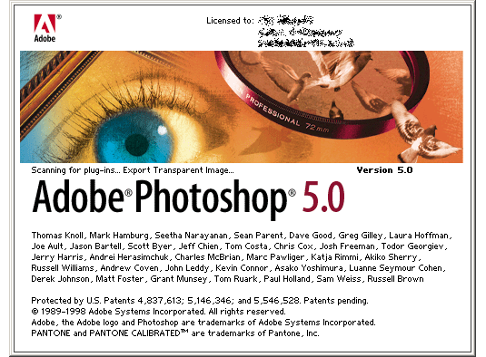 adobe photoshop pantalla 1998 - La evolución de Adobe Photoshop año tras año