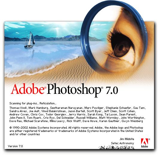 adobe photoshop pantalla 2002 - La evolución de Adobe Photoshop año tras año