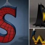 alfabeto batman spiderman wolverine letras - Alfabeto de SuperHéroes Letra por Letra