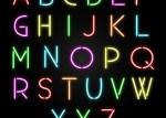 alfabeto neon vector - Letras de Neon en Vectores Gratis para Descargar