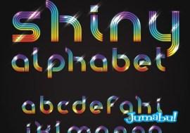 alfabeto shiny - Letras en Vectores con Efecto Brillante
