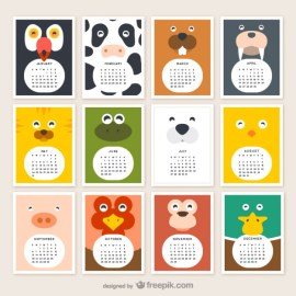 animal calendar 2015 23 2147501742 - Calendarios 2015 Infantiles