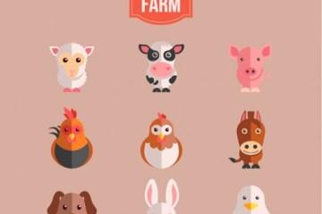 animales granja - Animales de la Granja Vectoriales