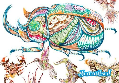 animales-ornamentales-vectores []