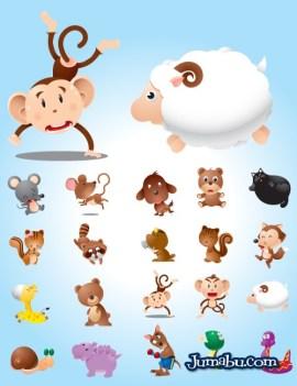 animalitos vectorizados monitos vectoriales - Animalitos para Niños en Vectores para Descargar