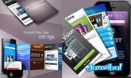 aplicaciones psd moviles descargar - Mock Up de Presentación de Aplicaciones para Móviles