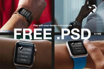 apple watch mockup - Apple Watch Template en PSD