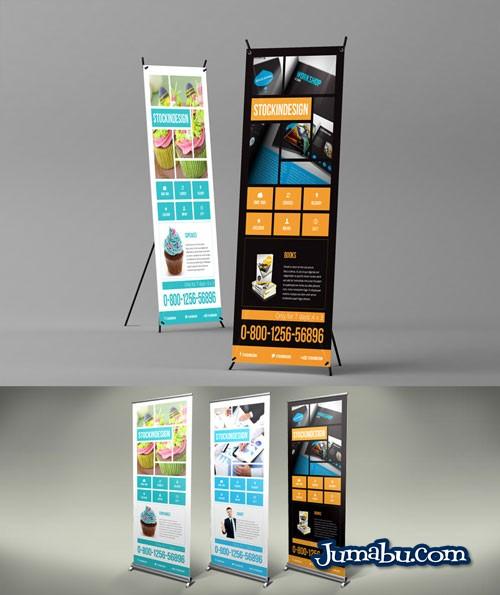 banners plantilla template indesign - Mock Up de Banners de Pié para Editar con InDesign