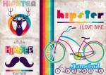 bicicletas coloridas vectores - Carteles Retro Coloridos en Vectores