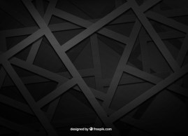 black background vector geometric - Fondo con Figuras Geométricas Negras Vectorizadas