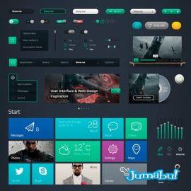 botones iconos interface ui photoshop - Kit de Iconos y Elementos para Interface de Usuarios en PSD