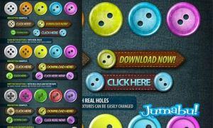 botones web1 - Botones para Web editables en PHOTOSHOP!