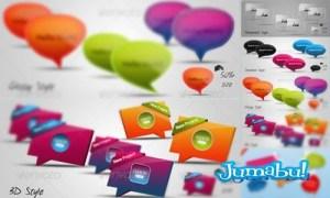 burbujas globos ddialogo - Burbujas de Diálogo Coloridas