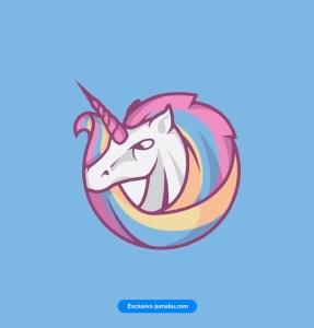 caballo icono unicornio vectores - Unicornio en vectores para descargar