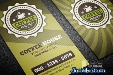 cafeteria tarjetas presentacion psd - Mock Up de Tarjetas de Presentación en PSD Cafetería Retro