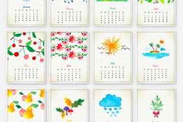 calendario 2016 dibujitos pintados - Calendario 2016 Gratuito para Descargar con Dibujos