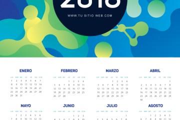 calendario 2018 espanol gratis 1 - Calendario 2018 gratis, en español y listo para imprimir