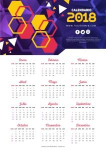 calendario 2018 para empresas - Nuevo Calendario 2018 para descargar e imprimir gratis
