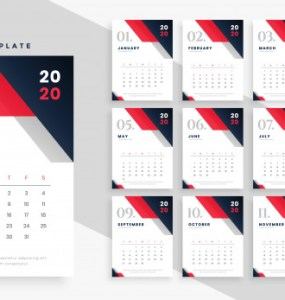 calendario 2020 imprimir png - Calendario 2020 en vectores para descargar