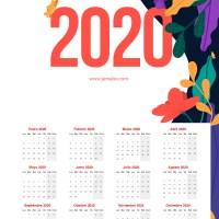 Calendario 2020 gratis para descargar