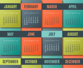 calendario colorido 2016 - Calendarios 2016 Coloridos para Descargar e Imprimir