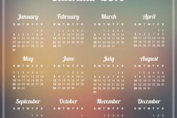 calendario2016 desenfocado - Almanaque 2016 para Descargar e Imprimir