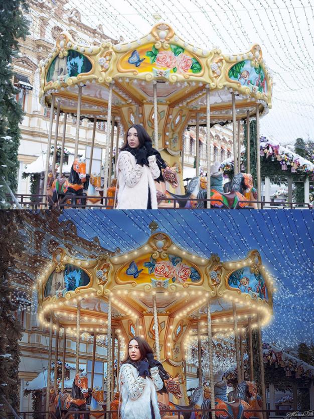 carrousel antes y despues de photoshop - Mujeres, paisajes, niños, antes y después de aplicarle photoshop!