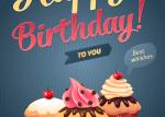 cartel feliz cumple vectorizado - Cartel de Feliz Cumpleaños en Vectores