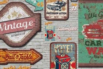 cartel oxidado accion photoshop - Cómo hacer un Cartel Antiguo Oxidado con Photoshop?