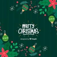 Cartel para navidad hecho a mano