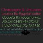champagne limousines tipografia - Tipografía Gratuita Champagne & Limousine
