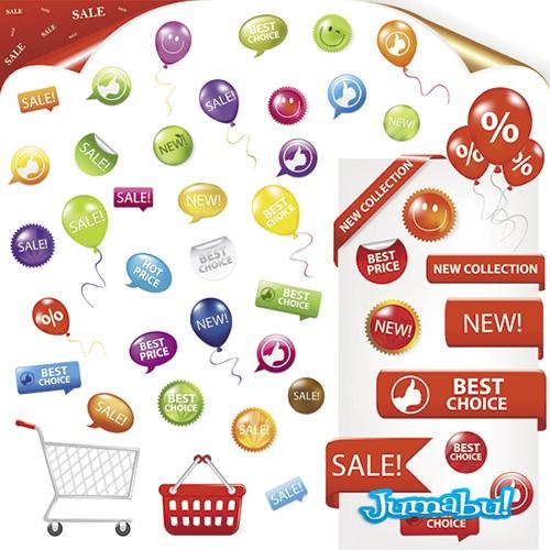 circulitos descuentos precios supermercado - Inserts o Elementos para Colocar Precios y Promociones Vectorizados