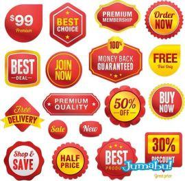 circulitos precio descuento off1 - Labels o Etiquetas para Precios o Promociones en Vectores
