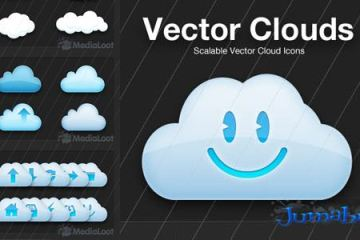clouds vectores - Nuves en vectores o vectorizadas