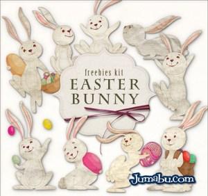 conejitos pascuas huevos - Imágenes Recortadas de Conejos para Pascuas en HD